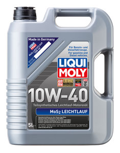 Масло моторное MoS2 Leichtlauf п/синт.5л LIQUI MOLY LM SAE10W40 1931, 84143,