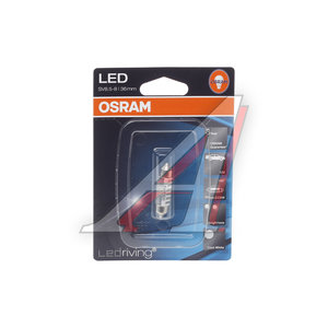 Лампа 12VхC1W (SV8.5/8) LEDRIVING COOL WHITE 6000K (блистер) 36мм OSRAM 6436CWбл, O-6436CWбл,