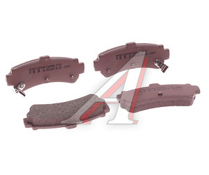 Колодки тормозные NISSAN Almera (95-00) задние (4шт.) NIPPARTS J3611039, GDB3115, 44060-0M8X0