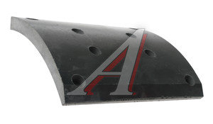 Накладка тормозной колодки МАЗ-5440 задней сверленая Wшир.=223мм;Lдуги=178мм;hтолщ.=14.3/18.5мм ТИИР 5440-3502105 (сверл), 5440-3502105