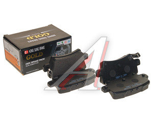 Колодки тормозные HONDA Civic (01-) задние (4шт.) HSB HP9246, GDB3408, 43022-SMG-E01