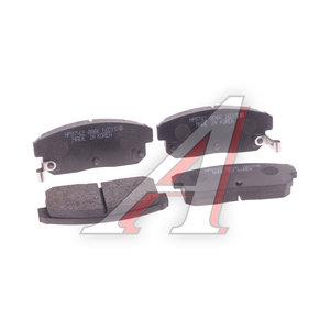Колодки тормозные MAZDA RX-8 (03-) NISSAN Maxima (99-) задние (4шт.) HSB HP9742, GDB3357, F1YA-26-43Z