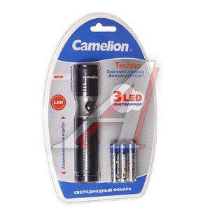 Фонарь 3 светодиода (алюминий) 13.6см 3хR03 в блистере CAMELION C-5119-3