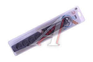 Фильтр сетевой 2м 16А 3500Вт, 5 гнезд + 2 USB, с заземлением, выключатель, евро, черный ЭРА SFU-5es-2m-B, ЭРА