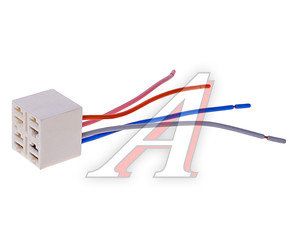 Колодка разъема выключателя-кнопки с 4-мя проводами АЭНК 2108, 9094
