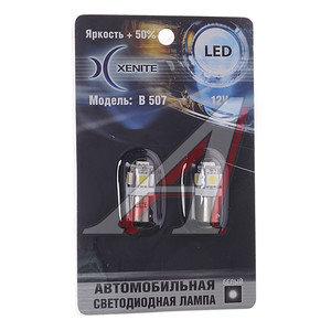 Лампа светодиодная 12V Т4W 1W BA9S белая блистер (2шт.) XENITE B 507, 1009230