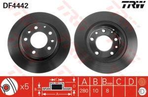 Диск тормозной MAZDA 6GG,GY (LF 2.0л/L3, 2.3л) задний комплект TRW DF4442к-т, J3313026, GF3Y-26-251A/N123-26-251A