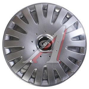 Колпак колеса R-15 декоративный серый комплект 4шт. универсальный 306 R-15