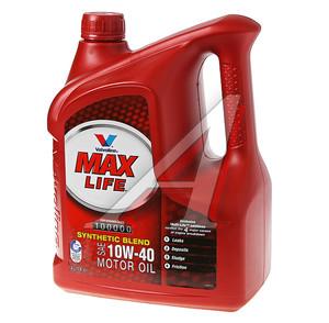 Масло моторное MAXLIFE п/синт.4л VALVOLINE SAE10W40,