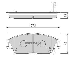 Колодки тормозные HYUNDAI Accent (99-),Getz,Coupe передние (4шт.) HANKOOK FRIXA FPH01, GDB3331, 58101-1CA10