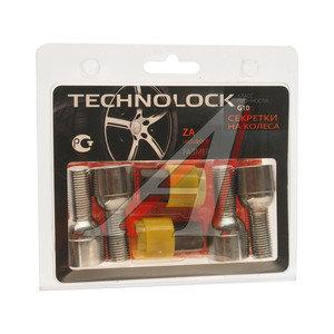 Болт колеса М14х1.5х28 секретки сфера комплект 4шт. 2 головки под ключ 17мм TECHNOLOCK TECHNOLOCK ZA, ZA