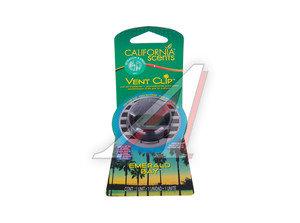 Ароматизатор на дефлектор (изумрудный залив) Vent Clip масло твердое 40г CALIFORNIA SCENTS 091400027902