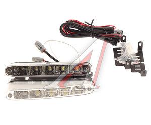 Огни ходовые дневного света LED 5 светодиодов 12-24V 8000К автоматическое выключение комплект INTEGO DL-1270