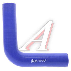 Патрубок угловой синий силикон (d=40, L=200х200) Патрубок D=40*