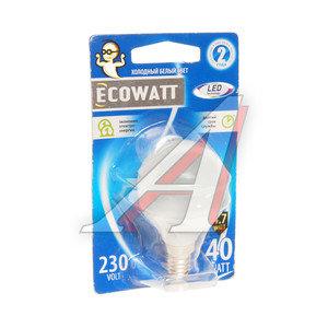 Лампа светодиодная E14 B35 4.7W(40W) 4000K 230V холодный белый шар ECOWATT 4606400613978,