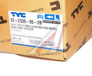 Фара TOYOTA Corolla (10-) левая (под корректор) TYC 20-C530-05-2B, 112-1130L-LDEMN, 81170-12D80