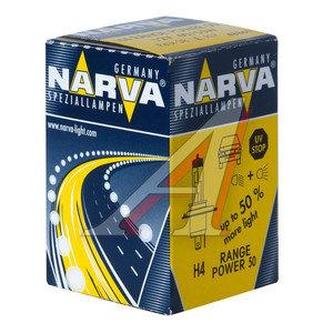 Лампа H4 12Vх60/55W+50% RANGE POWER NARVA 48861, N-48861RP