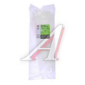 Хомут-стяжка 300х8.0 пластик белый (100шт.) FORTISFLEX 1008300, 50009,