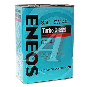 Масло дизельное TURBO DIESEL мин.4л ENEOS ENEOS SAE15W40, 41230