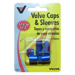 Колпачок на ниппель колеса декоративный, синий металл 4шт. VICTOR VICTOR V722B, V722B
