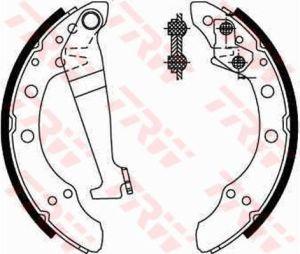 Колодки тормозные VW AUDI (200х40) задние барабанные (4шт.) TRW GS8092