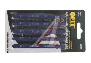 Пилка для лобзика набор 5шт. металл FIT FIT-41120, 41120