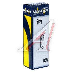 Лампа 12VхT5W (BA9s) габарит передний HALOGEN NARVA 17830, N-17830