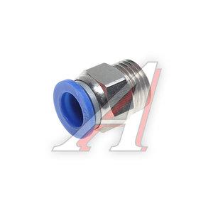 Соединитель трубки ПВХ,полиамид d=10мм (наружная резьба) М16х1.5 прямой PC M16x1.5 d=10, АТ-0712