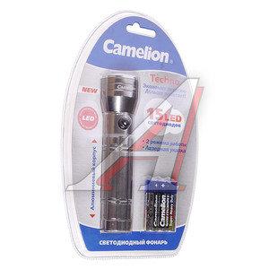 Фонарь 15 светодиодов (алюминий) 12.8см 3хR03 в блистере CAMELION C-5110-15ML,