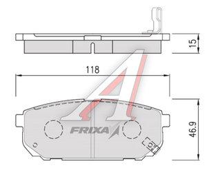 Колодки тормозные KIA Sorento (02-) задние (4шт.) HANKOOK FRIXA S1K15R, 58302-3ED00