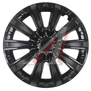 Колпак колеса R-15 декоративный черный комплект 4шт. ТОРНАДО ТОРНАДО ЧЕРНЫЙ R-15