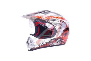 Шлем мото (кросс) MC 140 Белый жемчуг Тип 15 (Размер S) MICHIRU MC 140 Тип 15 S, 4620770792095