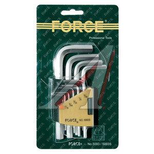 Набор ключей шестигранных 1.5-10мм 9 предметов FORCE F-5093, 5093,