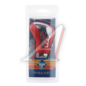 Ручка на рычаг КПП хром/красная NOVA BRIGHT 37814