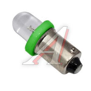 Лампа 12VхT4W (BA9s) ROUND GREEN 1 свет-од MEGA ELECTRIC ME-0406G, А12-4-1