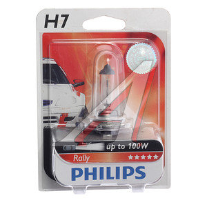 Лампа H7 12V 80W блистер Rally PHILIPS 12035RAB1, P-12035бл