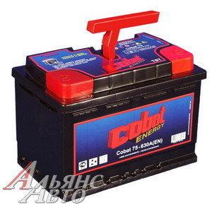 Аккумулятор COBAT 75А/ч обратная полярность 6СТ75,