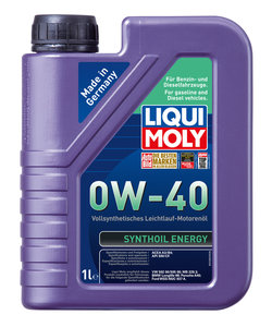 Масло моторное SYNTHOIL ENERGY синт.1л LIQUI MOLY LM SAE0W40 1922, 84174