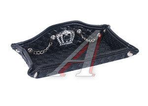 Подставка для мелочей BLACK (кожа) со стразами VIP AA06BK,