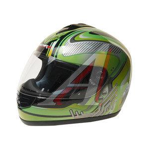 Шлем мото (интеграл) MICHIRU Mechanics Green MI 120 M, 4650066000641
