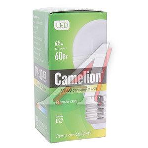 Лампа светодиодная E27 G45 6.5W (60W) теплый CAMELION LED6.5-G45/830/E27