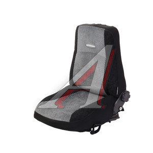 Авточехлы ГАЗЕЛЬ два водительских кресла велюр/жаккард черно-серые (6 предм.) AUTOPROFI GAZ-001 BK/GY