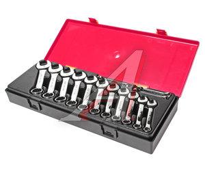 Набор ключей комбинированных 6-19мм 14 предметов в кейсе изгиб 15град. укороченные JTC JTC-K6143