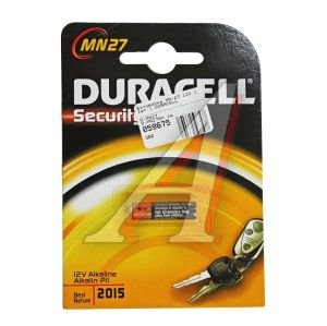 Батарейка A27 12V Alkaline Security (пульт сигнализации) блистер (1шт.) DURACELL D-MN27бл,