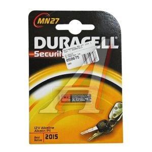 Батарейка A27 MN27 12V Alkaline Security (пульт сигнализации) блистер (1шт.) DURACELL D-MN27бл