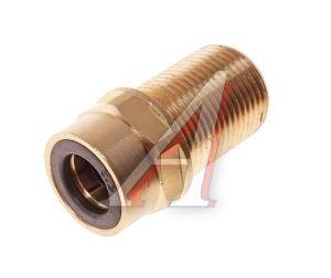 Соединитель трубки ПВХ,полиамид d=12мм (наружная резьба) М20х1.5 прямой латунь CAMOZZI 9590 12-M20X1,5-S01,