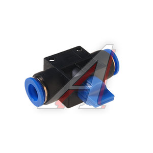 Фитинг для пластиковых трубок 10x10мм с краном ROCK FORCE RF-SHVFF10-10
