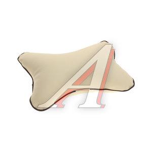 Подушка на подголовник эко-кожа бежевая СТАНДАРТ М019,