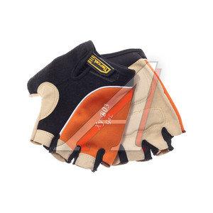 Перчатки велосипедные gel-silicon оранжевые XY-B03,