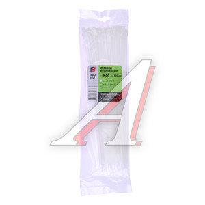 Хомут-стяжка 300х4.0 пластик белый (100шт.) FORTISFLEX 1004300, 49399